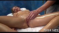 Very sexy 18 year old pretty gets fucked hard from behind by her massagist video