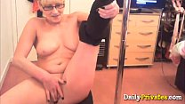little mina porn - Perfect body blonde granny Sussie masturbates thumbnail