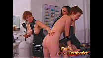 Dominatrix makes a first time slave cry in no t...