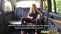 Fake Taxi Training the new female taxi driver in backseat threesome thumbnail
