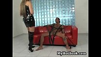Mandy Bright is a gorgeous  blonde dominatrix  who