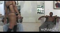 Lustful ebony bitch gets double penetrated by 2 gangstas