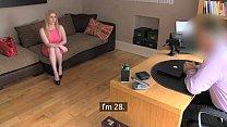 FakeAgentUk Blonde Scottish beauty with bouncy breasts pleasures agent