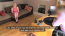 7950 FakeAgentUk Blonde Scottish beauty with bouncy breasts pleasures agent preview