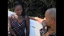 Ebony teen Tayjah Dawn fucked in her ass outdoors thumbnail