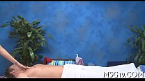 Blondie team-fucked in a massage room preview image