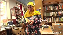 Bookstore owner fucks a happy muslim milf