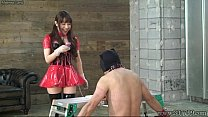 Japanese Mistress Emiru Femdom Two Male Slaves thumb