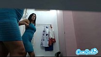hot lesbian milf step mom with big tits and ass filmed in dressing room changing