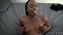 Black Girlfriend Wants You to Impregnate Her - Creampie, POV thumbnail