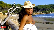 Hot Black Nancy Love Stripping By The Sea