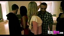 Girls night out leads to orgy 097