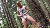 Nasty czech sweetie stretches her narrow slit to the bizarre