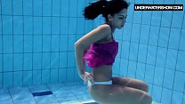 Screenshot Zlata Oduvanchi k swims in a pink top and undr nk top and undresses