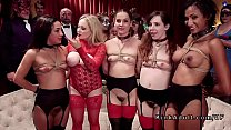 Bdsm orgy party with hard fucking preview image