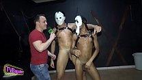 Em Clima de Halloween, pornstar Neto Silva e Marcello Moreno fazendo muitas travessuras durante entrevista para o PapoMix no Clube dos Pauzudos