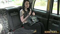 Super hot Alessa gets her tight pussy pounded as her payment for the cab