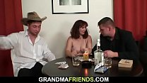 Old granny loses strip poker and fucked video