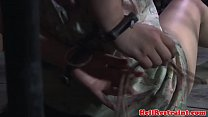 Bruised stocked submissive being dominated preview image