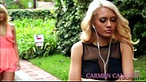 Blonde Carmen gets her pussy licked by gorgeous...
