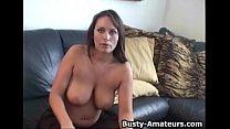 Busty Brunette Leslie On Dildo Fun pornhub video
