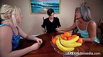 Footjob with Step Sister Kim Stroker and Leilani Lei