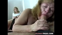 Chubby Granny Share Young Cock With Her Friend preview image