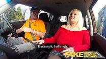 Fake Driving School Busty mature MILF sucks and...