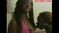 Screenshot Ebony Couple Girls Play Strapon