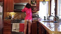 Helping my naked step daughter in the kitchen Image