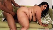 Big Tit Latina MILF Sofia Rides Another Big Black Cock thumbnail