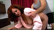AUBURN HAIRED MOM GERRI BLOWS & GETS FUCKED BY ...