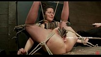Babe suspended in the air with her boobs  (Stop jerking off! Visit RealOne24.com)