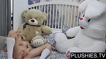 Erotic model Nika N first time sex on camera wih teddy bear Jack[part1] preview image
