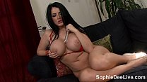 Busty Brit Sophie Dee Plays with Her Pussy with...
