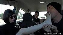 Feet Worship In Car
