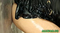 Blonde Czech Babe Gets All Slimy