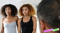 Black teens in trouble with their daddies fuck their way out