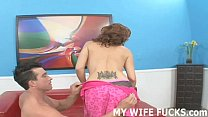 You are going to love watching your wife take a big cock