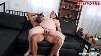 LETSDOEIT - Chubby Mature Granny Rides a Big Young Cock thumbnail