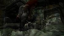 Elena Riding a Dark Elf in Skyrim 3D Animated Porn preview image
