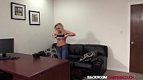 pov cleavage & Blonde babe amateur Stacey fucks for creampie in 1st casting thumbnail