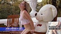 Teen girl Tracy fucked by ritch teddy bear at the  villa in a jungle of Bermuda Vorschaubild