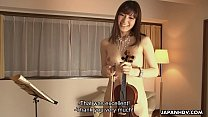 Horny Yuria Tominaga plays a violin and rubs her pussy pornhub video
