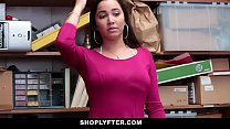 Shoplyfter -Teen thief Karlee Grey forced to strip and fuck to avoid jail thumbnail