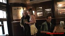 rabudas ◦ Mature couple pick up a teen in the bar and fuck her at their place thumbnail