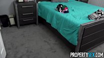 PropertySex - Tiny babe busts roommate sniffing her panties - 9Club.Top