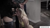 Stepdaughter fucked by daddy and his friend