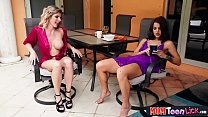 Stepmom MILF gets her teen stepdaughters attention