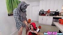 Kharlie Stone pussy fuck upside down by big bad Wolfie pornhub video